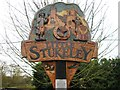 TL2075 : Village sign, Little Stukeley by Alex McGregor