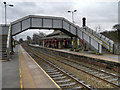 SJ5795 : Platforms 1 and 2, Earlestown Station by David Dixon