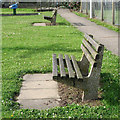 TG1642 : Seats, Cromer Road Park by Robin Stott