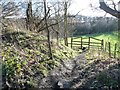 SE3004 : Public footpath to Lower Falthwaite by Christine Johnstone