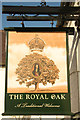 SK8361 : The Royal Oak sign by Richard Croft
