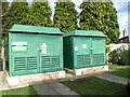 TQ6094 : Electricity sub stations, Nuffield Hospital : Week 5