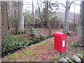 NT1535 : Postbox, Bellspool by Richard Webb