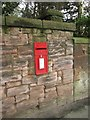 NT9853 : Post box in wall on Castle Terrace, Berwick upon Tweed by Graham Robson