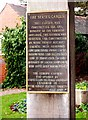 SO8275 : Dedication plaque at entrance to the Senses Garden, Brinton Park, Sutton Road, Kidderminster by P L Chadwick