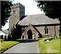 SN7028 : South side of St Cadog Parish Church, Llangadog by John Grayson