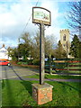 TL2344 : Village sign for Dunton by Alexander P Kapp