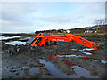 NG4152 : Sunken digger at Kensaleyre by John Allan