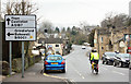 SK2381 : A6187 passes through Hathersage by Peter Church