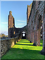 NX9666 : Sweetheart Abbey (New Abbey) by David Dixon