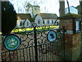 SU2944 : Amport church seen from the gates on Furzedown Lane by Shazz