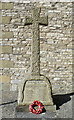 SK1969 : WW1 Memorial Cross inside the grounds of the Holy Trinity Church, Ashford in the Water by Terry Robinson