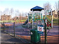 SE3025 : Play Area - Moor Knoll Lane by Betty Longbottom