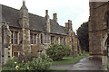 SP8796 : Lyddington: almshouses by the church by Christopher Hilton