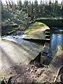 NY8767 : Old weir on Meggie's Dene Burn by Oliver Dixon