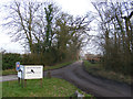TM4161 : The entrance to Manor Farm by Adrian Cable