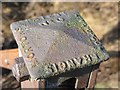 NY6355 : Top of metal fence post on Glendue Fell by Mike Quinn