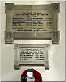 TL9561 : All Saints, Drinkstone - War Memorial WWI &amp; WWII by John Salmon