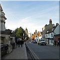 TL4457 : Sunday afternoon in Trumpington Street by John Sutton