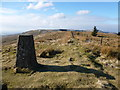 NS7281 : Midday shadow of the Tomtain trig by Alan O'Dowd