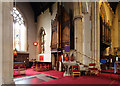 TQ2584 : St Mary with All Souls, Abbey Road, Kilburn - Pulpit &amp; organ by John Salmon