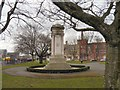 SJ8597 : Ardwick Green War Memorial E side (France) by Gerald England