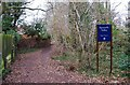 SO8474 : Entrance to Spennells Valley Nature Reserve, near Captain's Pool, Spennells, Kidderminster by P L Chadwick