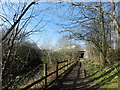 SJ8789 : Trans Pennine Trail on the banks of the River Mersey by Peter Barr