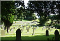 SK2474 : All Saints Church Graveyard, Curbar Hill, Curbar - 4 by Terry Robinson