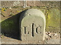 SJ8589 : Cheadle Bridge, boundary marker stone by Peter Barr