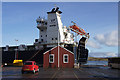 HU4741 : MV Hildasay at Victoria pier, Lerwick by Mike Pennington