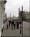 TL4458 : Cambridge: tourists on St David's Day by John Sutton