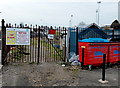 ST1268 : Entrance gate to Slaughterhouse Allotments, Barry by John Grayson