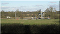 SP1372 : M42 junction 3a east: a glimpse of the junction by Robin Stott