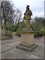 SD9303 : Alexandra Park, Statue of Joseph Howarth by David Dixon