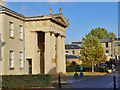 TL4557 : Entrance to the Library, Downing College, Cambridge by Peter Church
