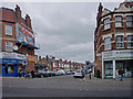 TQ3092 : Devonshire Road, The Triangle, Palmers Green, London N13 by Christine Matthews