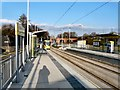 SJ8698 : Holt Town tram stop by Gerald England