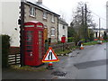 SY7197 : Piddlehinton: phone box and relocated postbox by Chris Downer