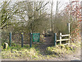 SJ4890 : Public Footpath, Blundell's Hill Golf Club by David Dixon