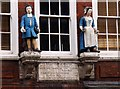 TQ3579 : A pair of bluecoats on St Mary School by Steve Daniels
