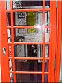 TQ2682 : Inside a Telephone Box outside the Flats in Hall Road. NW8 by David Hillas