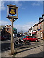 SZ3589 : Yarmouth: town sign in St. James Street by Chris Downer
