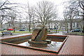 NJ9205 : Fountain, Rubislaw Terrace garden. by Bill Harrison