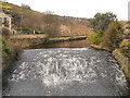SD9703 : River Tame, Weir at Roaches by David Dixon
