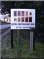 TM3968 : Satis House sign by Adrian Cable
