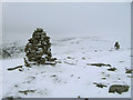 NN9079 : The two cairns on Sron Dubh in winter by wrobison