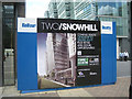 SP0787 : Developer's sign, Snow Hill concourse B3 by Robin Stott