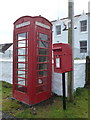 NG1550 : Lower Milovaig: postbox № IV55 58 and phone by Chris Downer