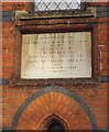 TQ2179 : Plaque, St Mary's church, Stamford Brook by Derek Harper